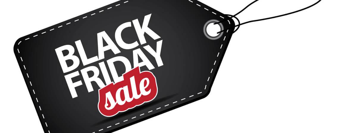 Schwarzes Black-Friday-sale Schild