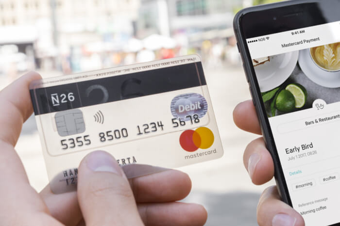 N26-Karte und Smartphone-App