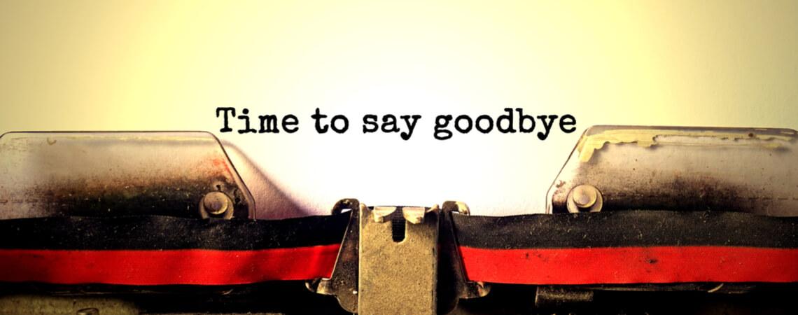 Goodbye auf Schreibmaschine