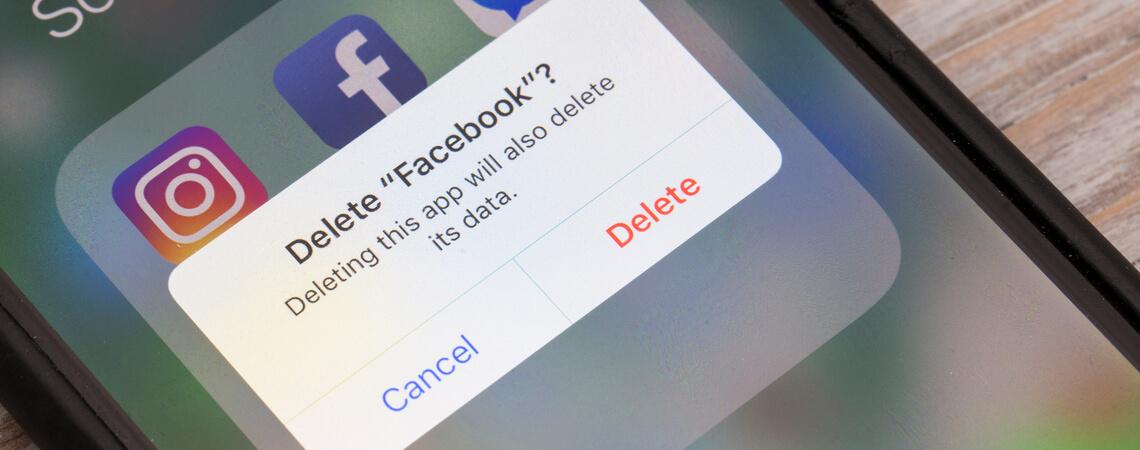 Facebook löschen auf Smartphone