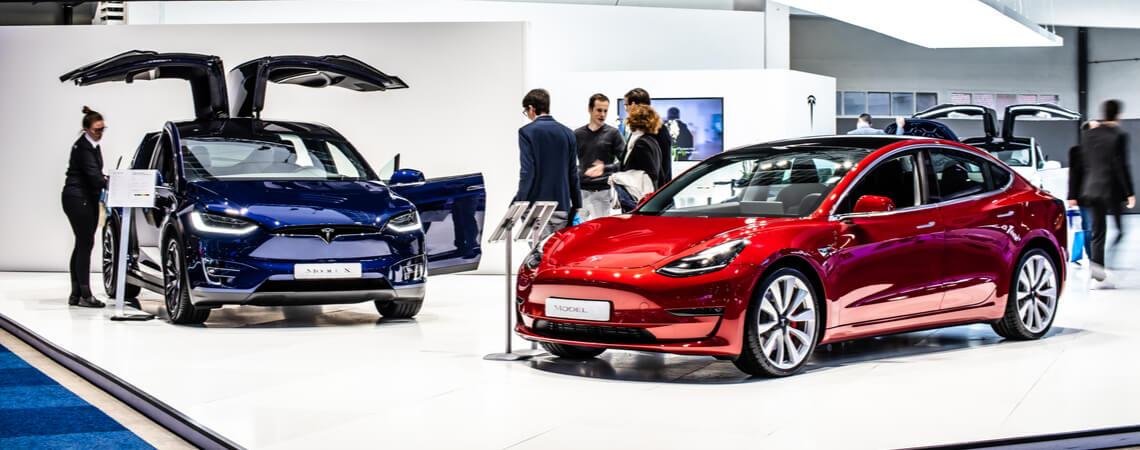 Tesla-Showroom in Belgien