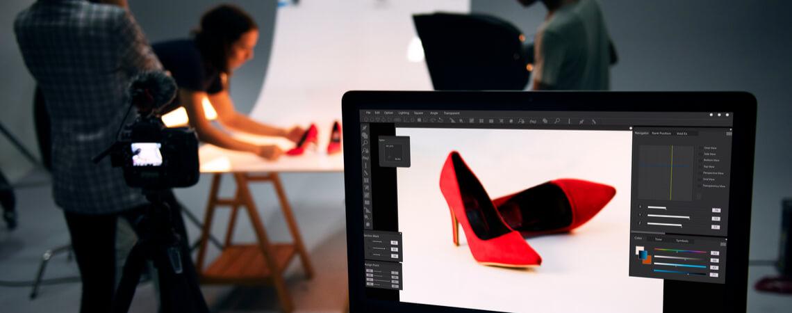 Foto-Shooting für ein Produktbild