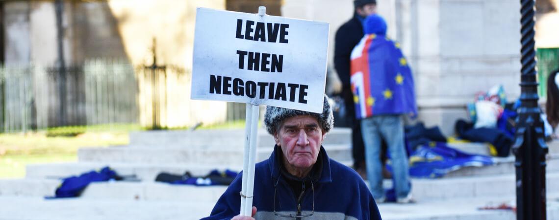 Pro-Brexit-Demonstrant