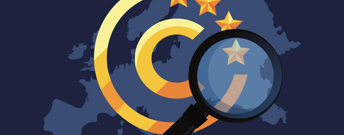 Copyrightsymbol vor Europakarte