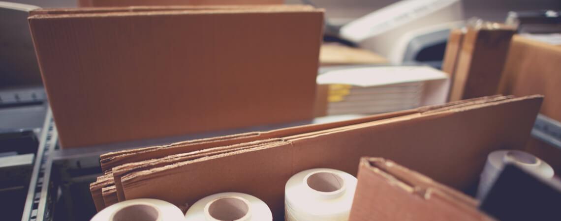 Verschiedene Verpackungsmaterialien