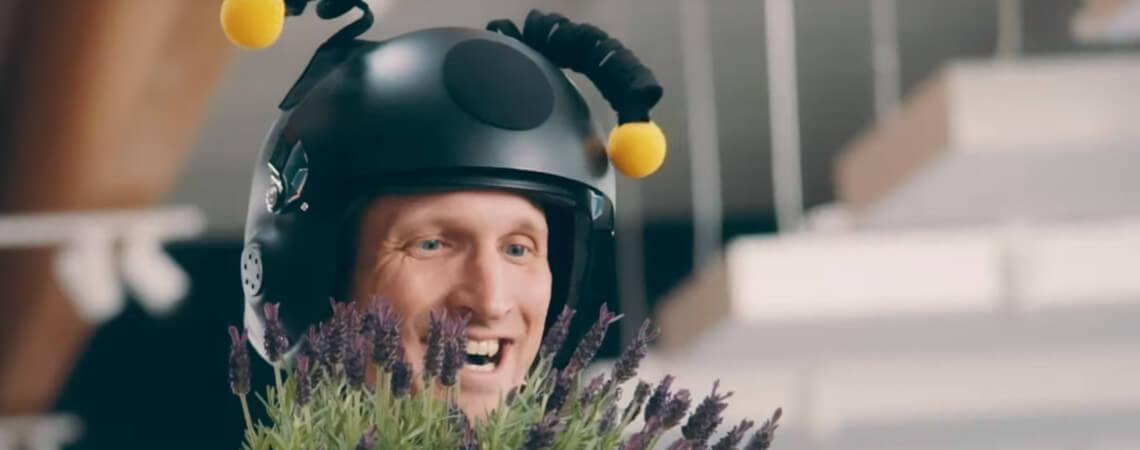 Screenshot aus Lidls Bienen-Video