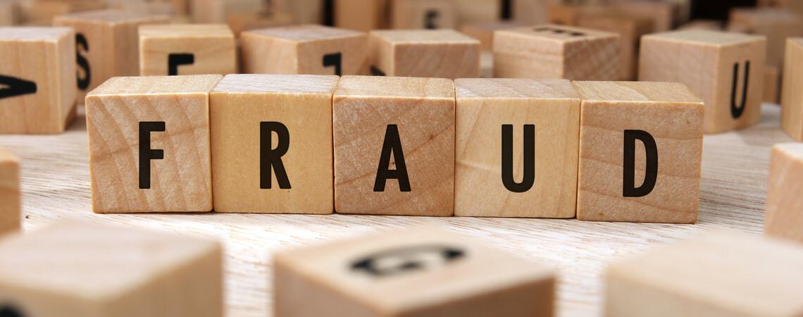 Schriftzug Fraud