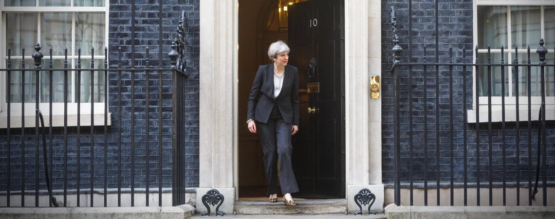 Theresa May verlässt 10 Downing Street