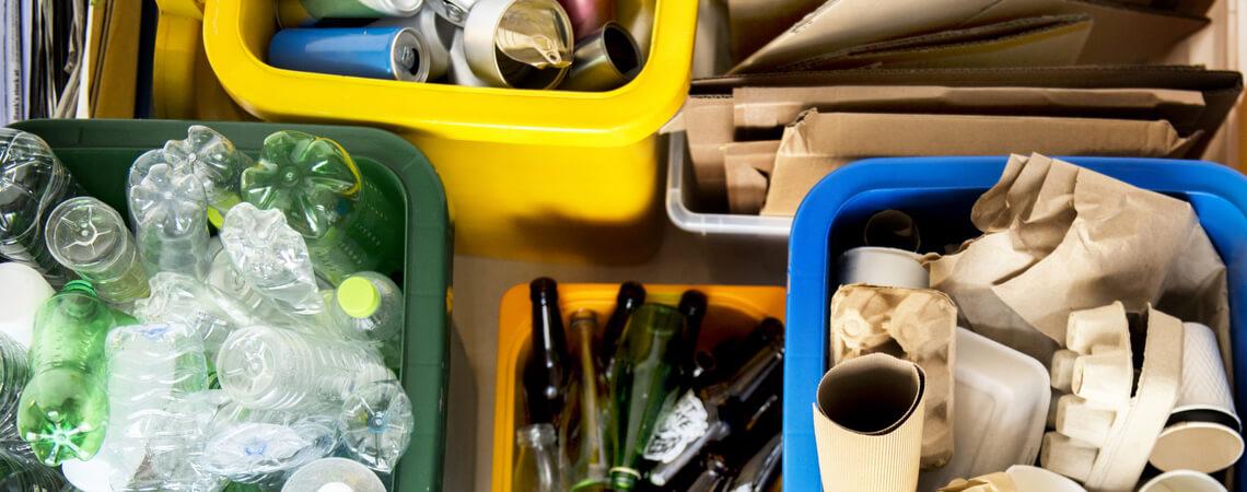 Recycling und Mülltrennung