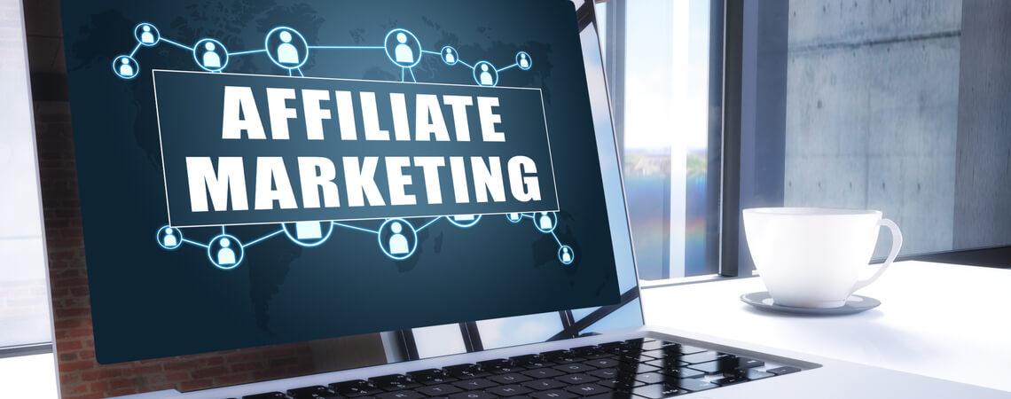 Affiliate-Marketing auf einem Laptop