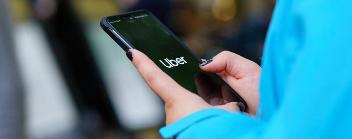 Uber auf Smartphone