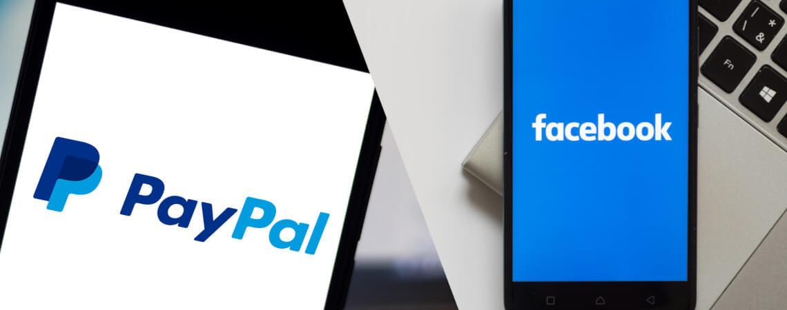 Logos von PayPal und Facebook