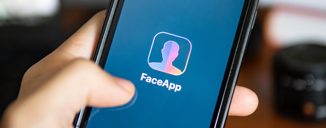 FaceApp auf einem Smartphone