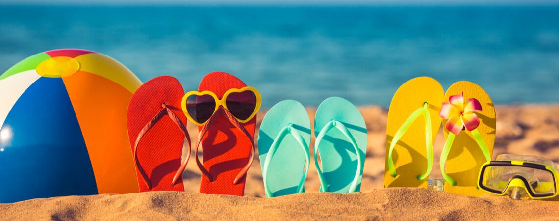 Flip-flops am Strand