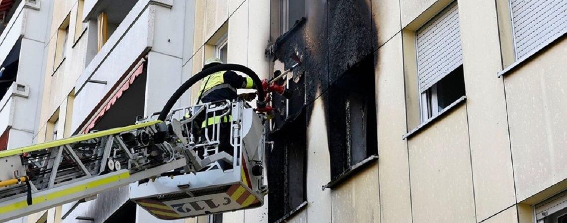 brennende Wohnung