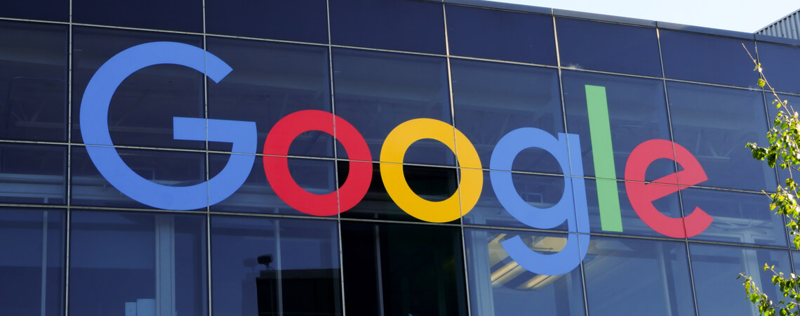 Google-Logo an der Zentrale