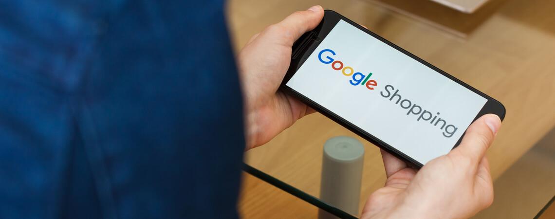 Google Shopping auf Smartphone