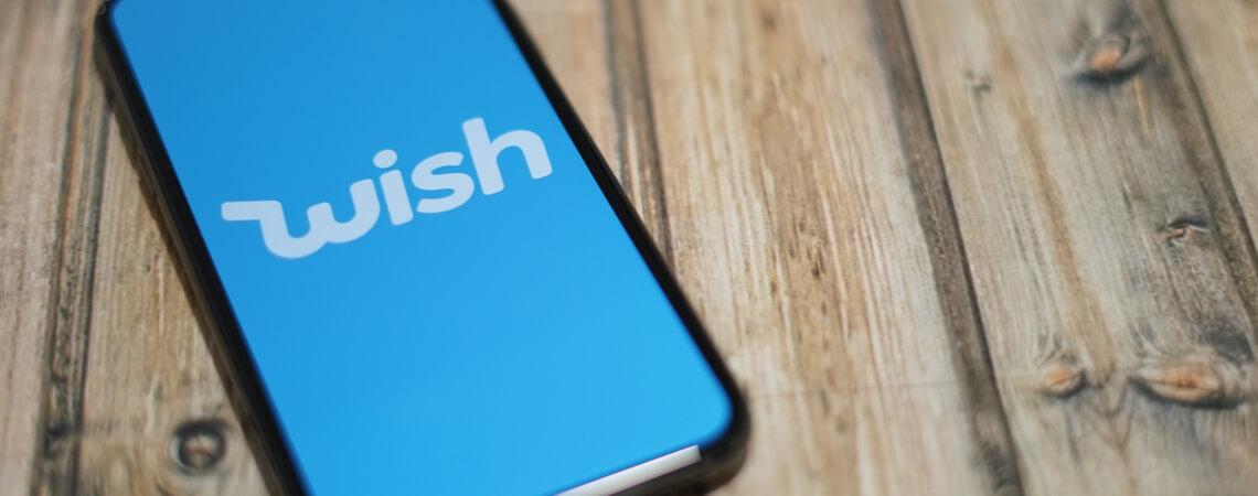 Wish Logo auf einem Smartphone