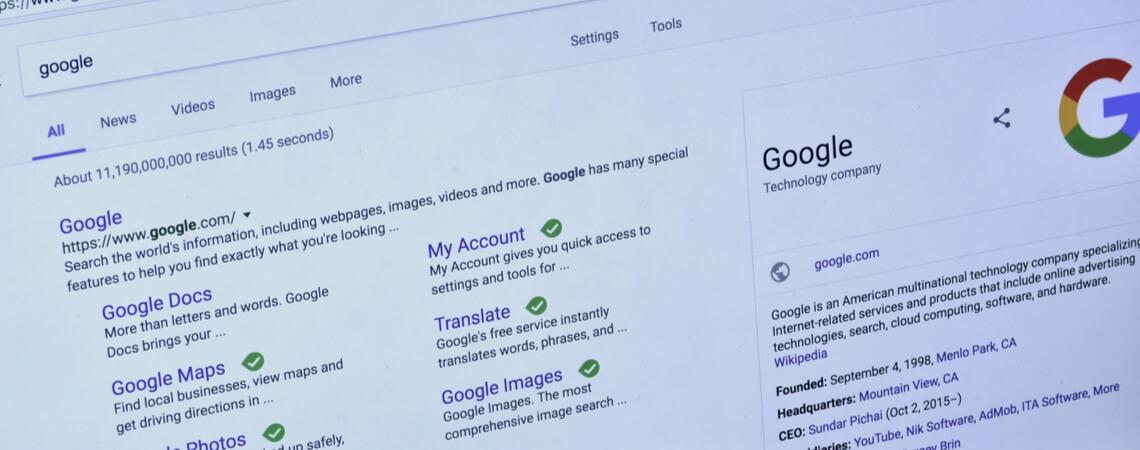 Google-Suche mit Knowledge Graph
