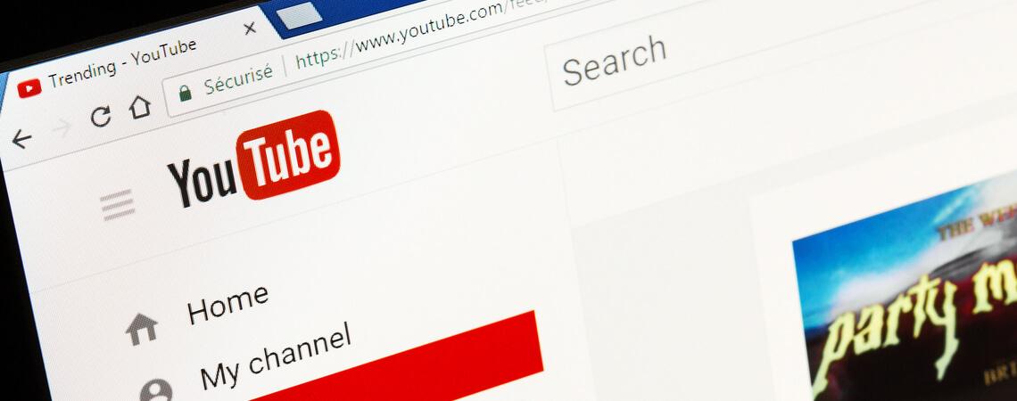 YouTube auf Tablet