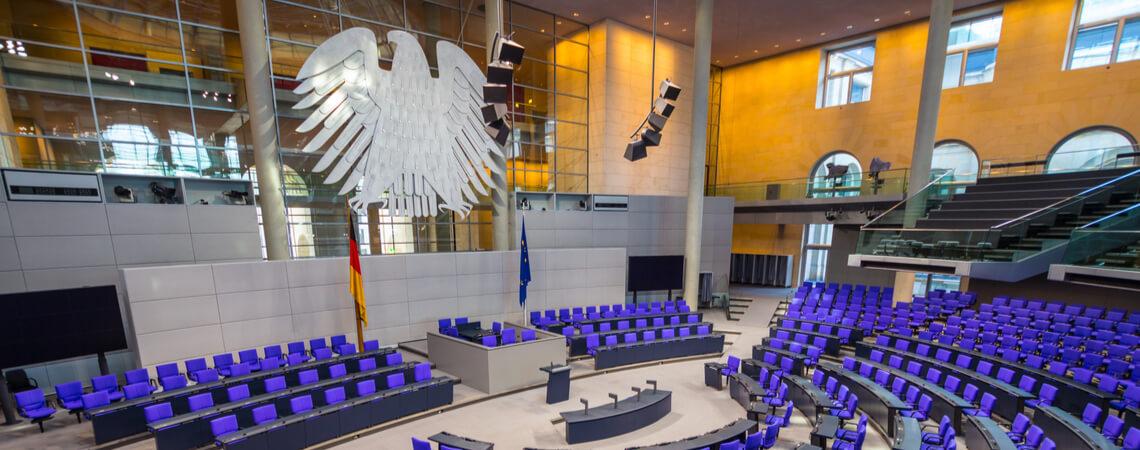 Plenarsaal im Reichtagsgebäude