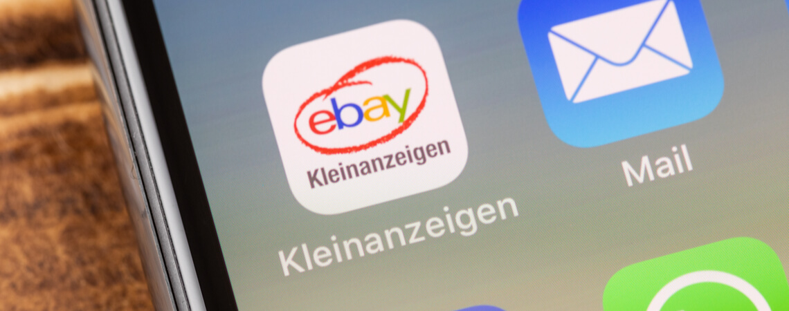 Ebay Kleinanzeigen auf einem Smartphone