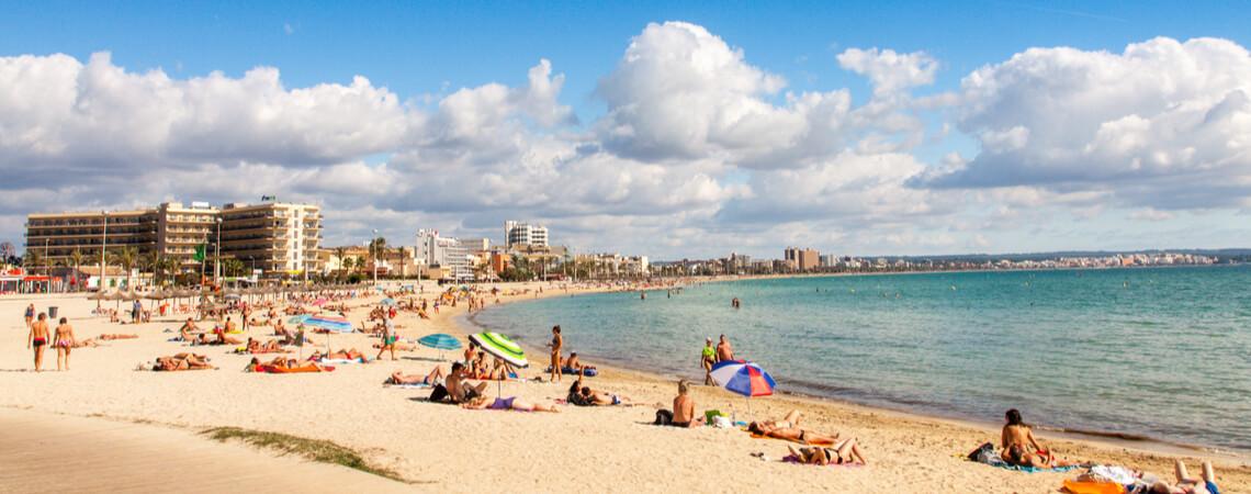 Strand von Palma auf Mallorca
