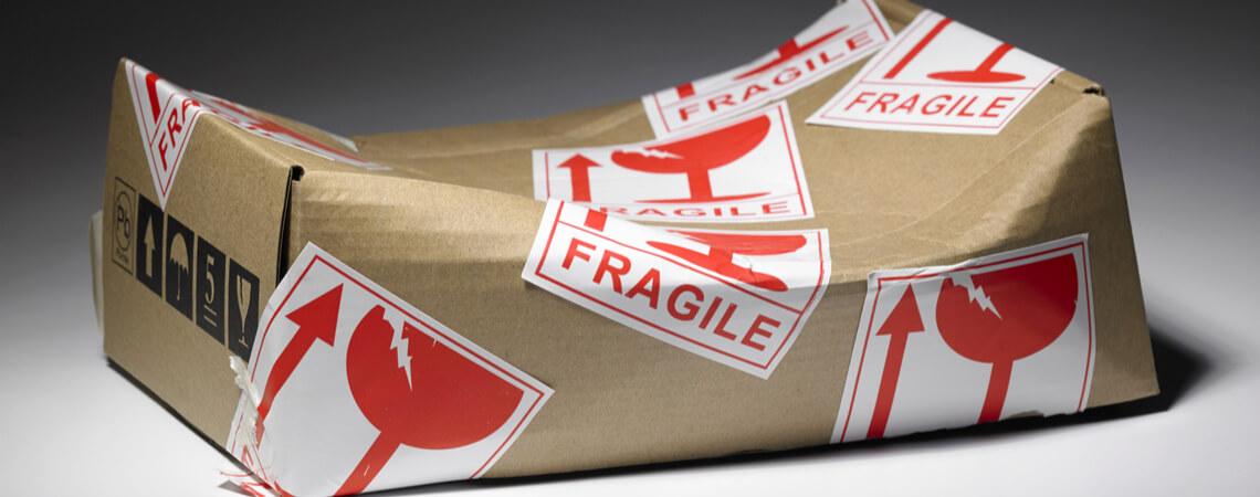 Schaden an einem Paket