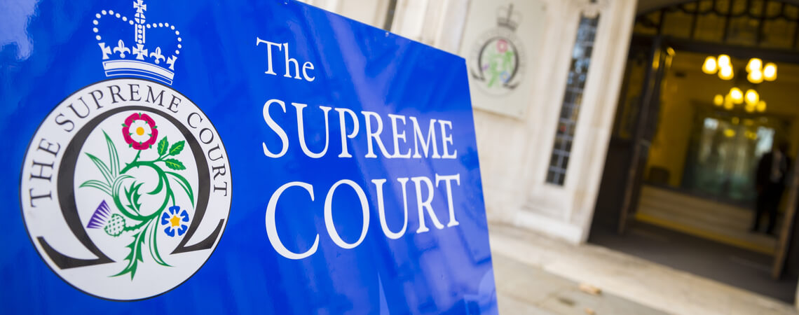 Supreme Court Gebäude in London
