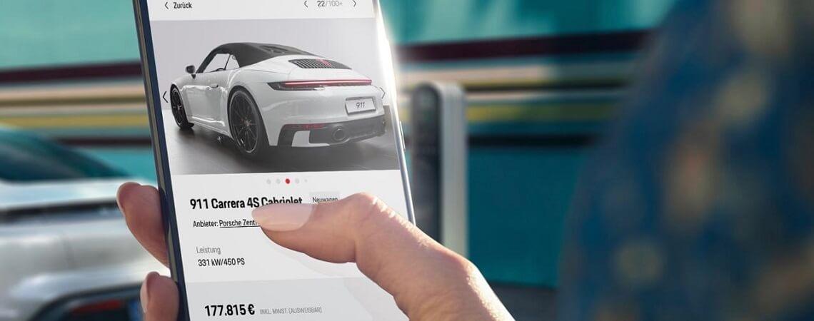 Smartphone mit Porsche