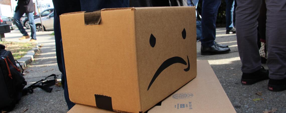 verändertes Amazon Logo