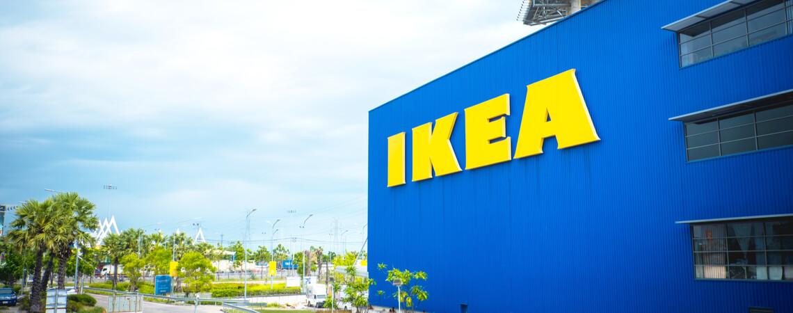 Loge des schwedischen Möbelhauses Ikea