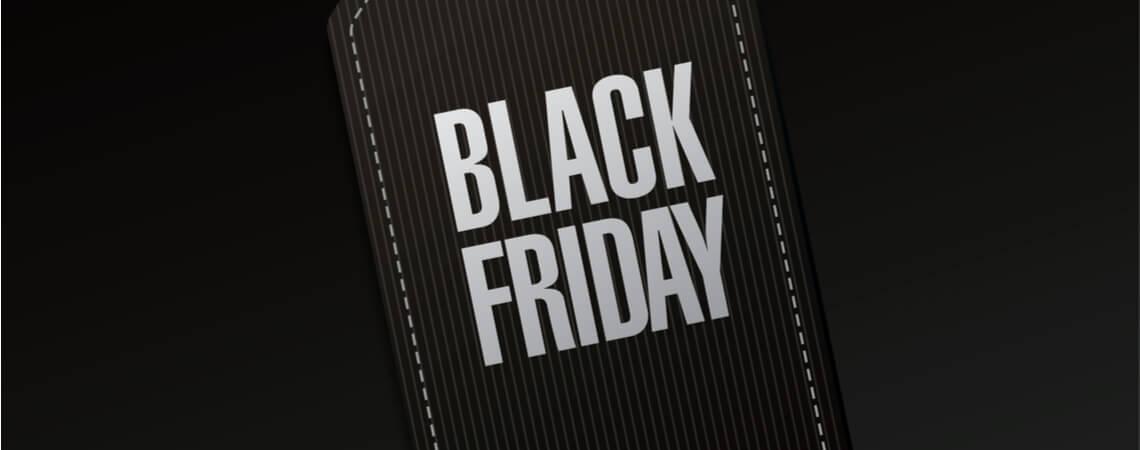 Schwarzes Preisschild mit Black Friday