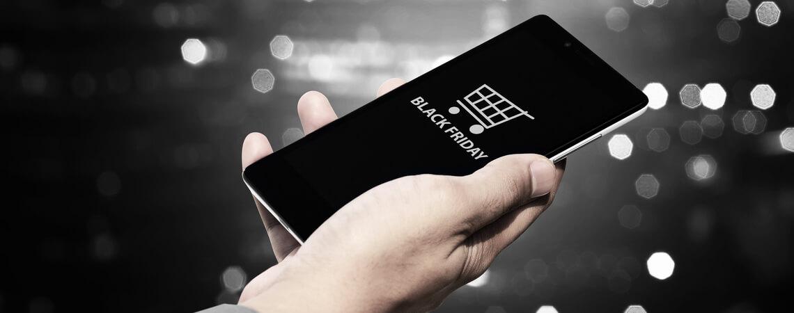 Black Friday auf einem Smartphone