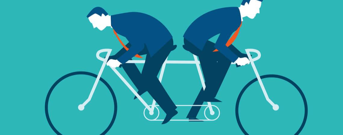 Radfahren in entgegengesetzte Richtung