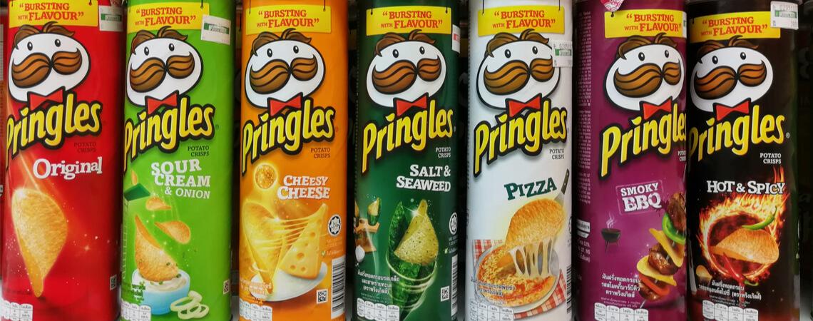 verschiedene Dosen Pringles
