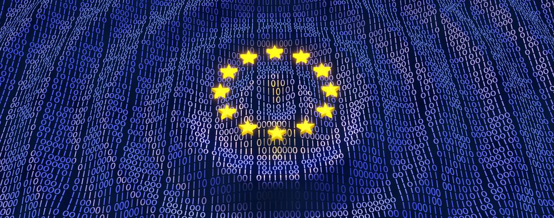 EU-Sterne über Zahlencodes