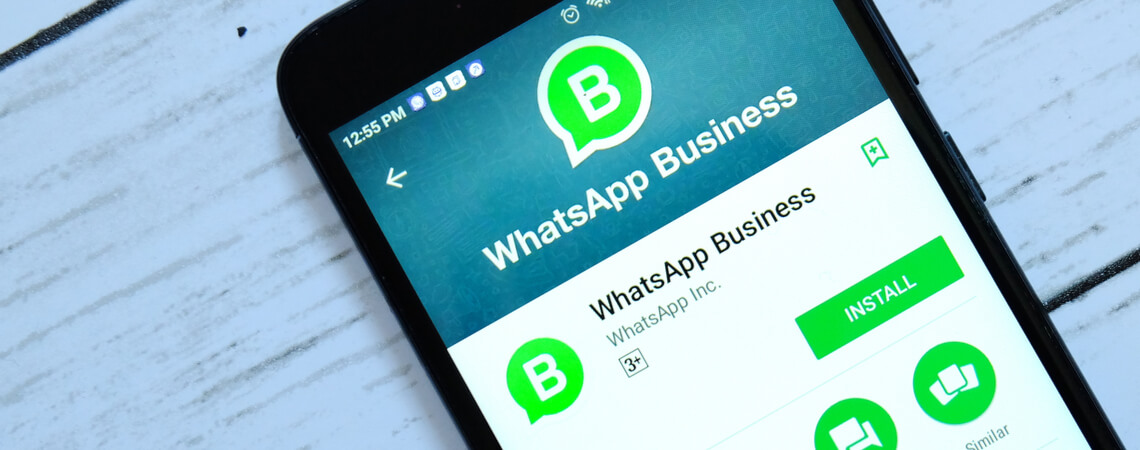 WhatsApp Business auf einem Smartphone