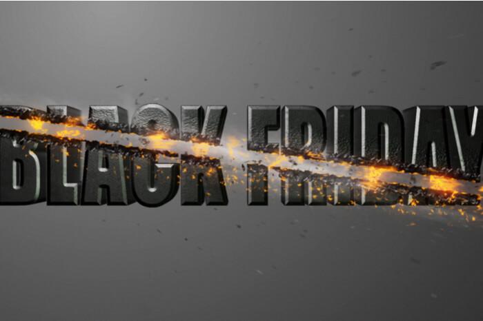 Black Friday durchgestrichen