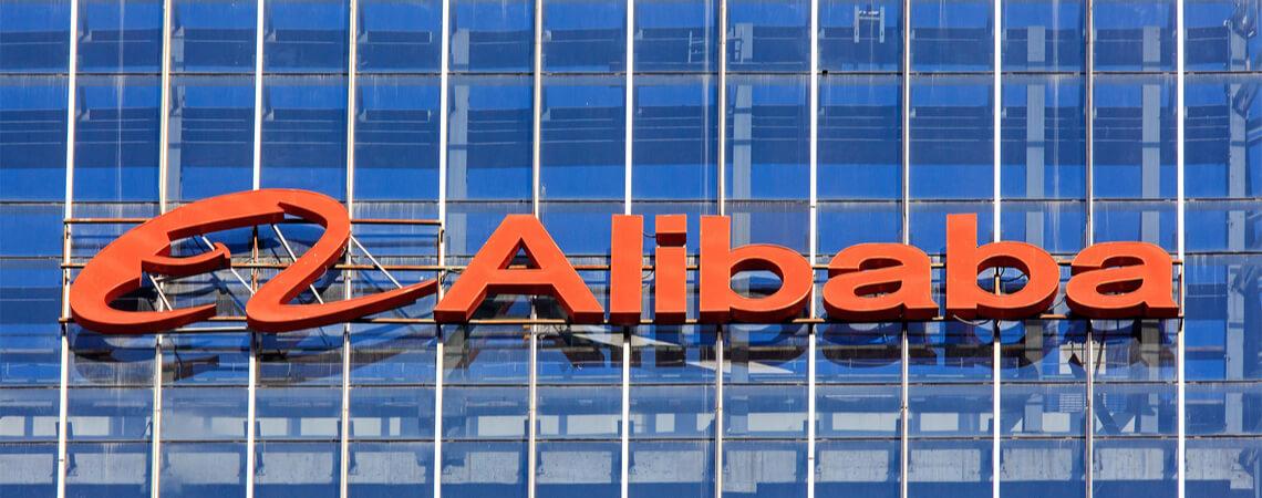 Logo des chinesischen Online-Riesen Alibaba