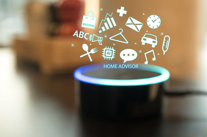 Voice Commerce: Lautsprecher mit Symbolen