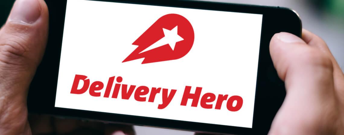 Delivery Hero auf einem Smartphone