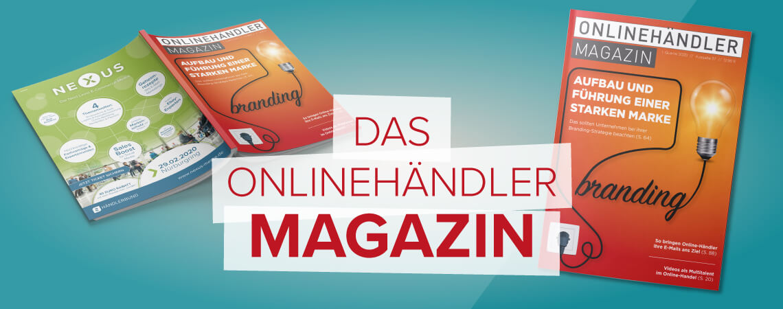 Cover des neuen Onlinehändler Magazins Q1 2020