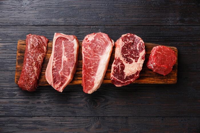 verschiedene Steaks
