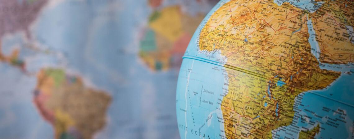 Afrika auf Globus