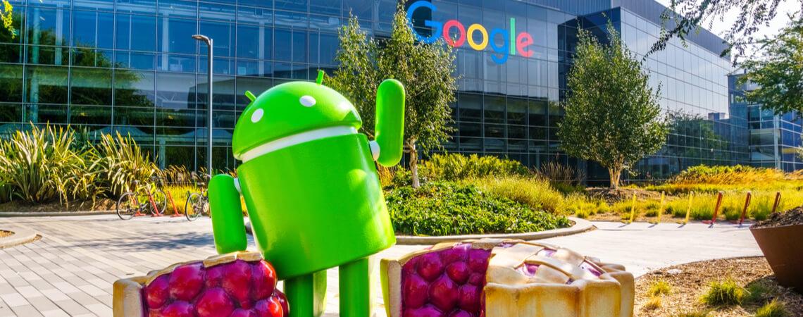 Androidfigur vor Google-Hauptquartier