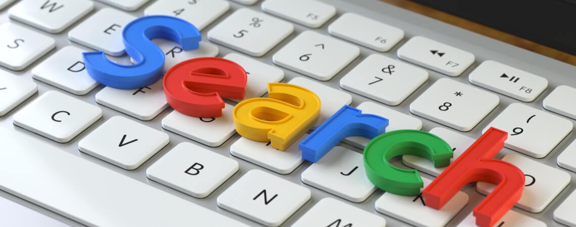 Search auf Tastatur