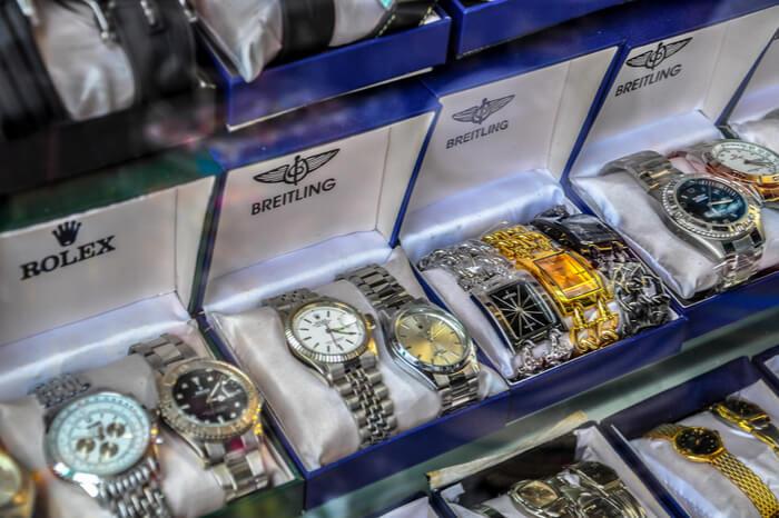 Gefälschte Uhren ohne Markenschutz
