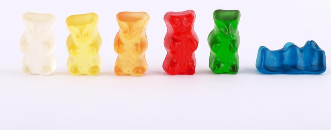 verschiedene Gummibärchen von Haribo