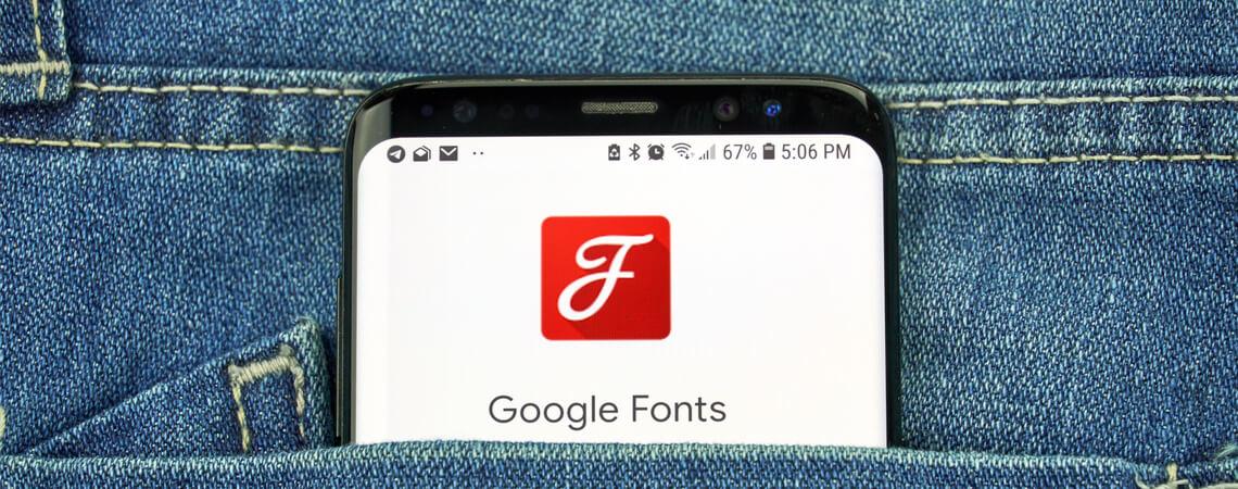 Google Fonts-Logo auf Smartphone